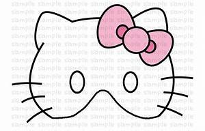 Image gallery kitty mask coloring for Hello kitty mask template