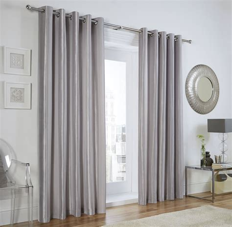 vertical jacquard stripe silver grey ring top curtains