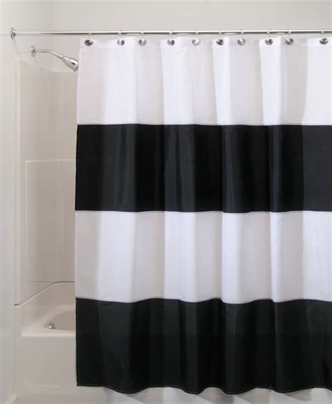 styles 2014 black and white shower curtains