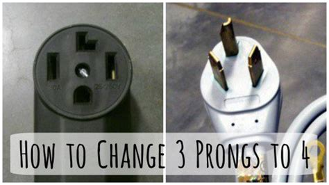 changing a 3 prong dryer and cord to a to 4 prong cord dengarden