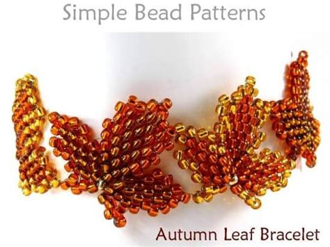 Beaded Autumn Leaf Bracelet Fall Jewelry Making Beading Pattern Rose Gold Kitchen Accessories Wilko Vintage Jewelry York Pa Sale Ruby Lane Edmonton On Blondes For Wedding Logo