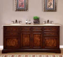 72 inch double bathroom vanity travertine top dual sink