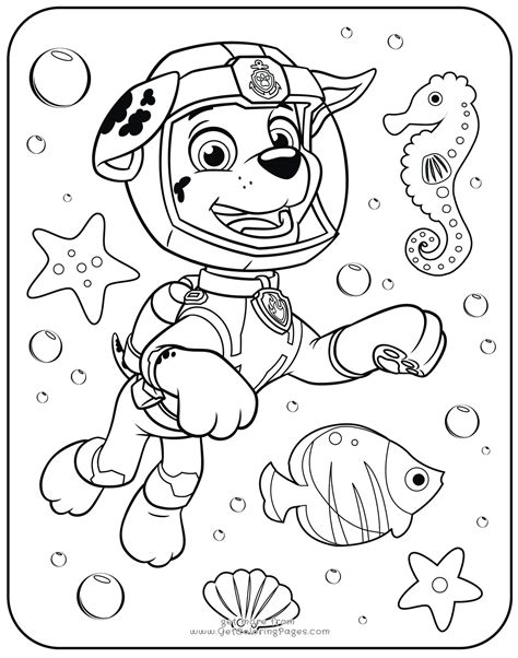 Mighty Paw Patrol Coloring Pages PawPatrolColoringPages com