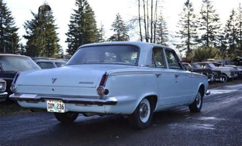 Sell used 1965 PLYMOUTH VALIANT blue 4 door 225 SLANT 6 ...