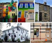 Black Color House Unusual Interior From Camouflage Pixel Homes To Rainbow Colored Houses A Leopard
