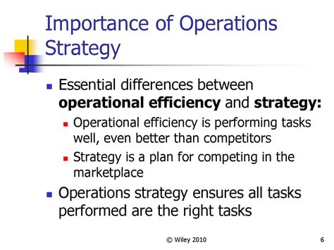 operations strategy  competitiveness