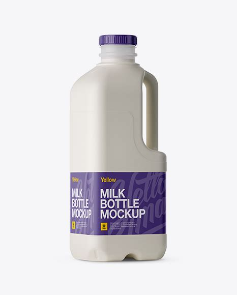Pouring coffee into the glass with milk and ice. Frosted Plastic Milk Jug Mockup - Halfside View Packaging ...