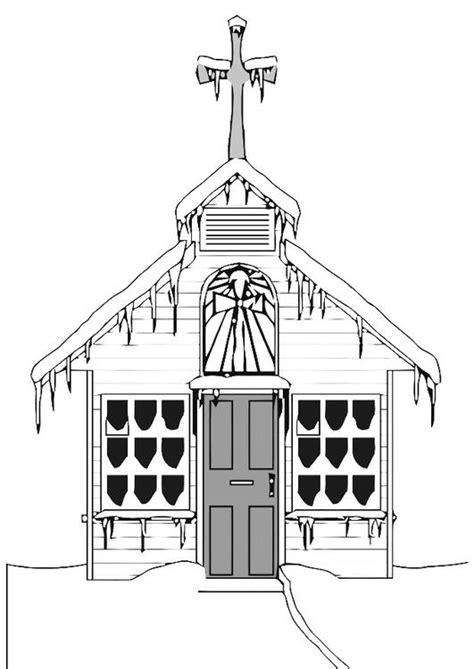 Kleurplaat Kerk by Kleurplaat Kerk In De Winter Afb 20533