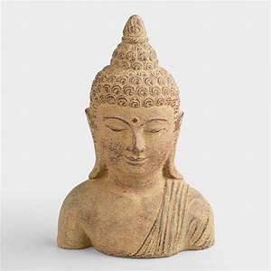 Small Stone Buddha Head World Market