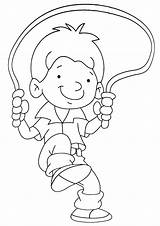 Coloring Jump Rope Jumping Joy Disney Template sketch template