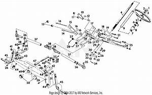 Gravely 41876 20hp  With Hydraulic Lift Parts Diagram For Steering