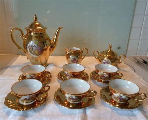 la cuisine de christine service à café en porcelaine à motifs romantique et doré à