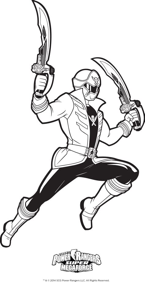 Power Rangers Megaforce Free Colouring Pages