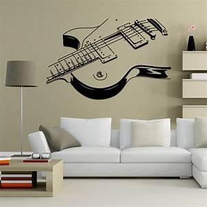 Guitar music wall art decal decor vinyl dance musical