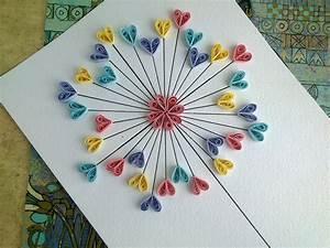 Quilling paper tutorial diy love card