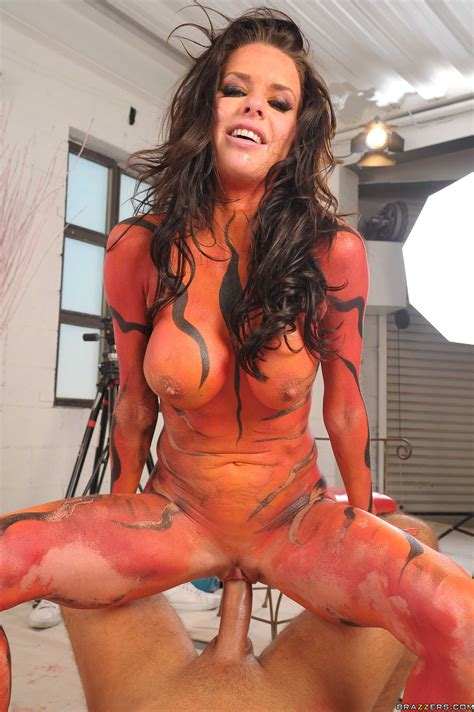 Body Painted Chicks Getting Fucked