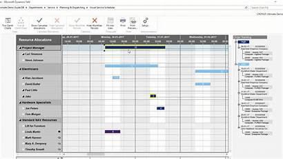 Scheduling Service Visual Gantt Planning