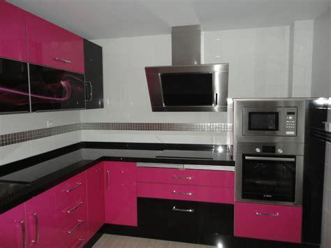 cocina martos rosa  negra cocinas jaen