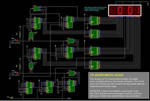 Ttl Based Digital Clock Circuit Diagram