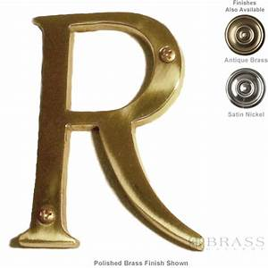 brass accents traditional letter r 4quot brass gallery With 4 brass letters