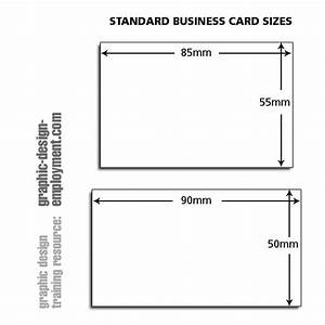 Business card standard sizes for Dimension business card