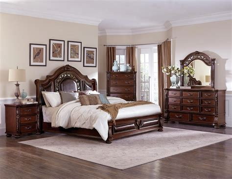 1814 chairs for bedrooms homelegance hillcrest manor sleigh bedroom set cherry