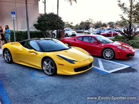 As we know that the ferrari is one of the luxury cars in the world's top vehicles and john doe wants to drive next to this. Ferrari 458 Italia spotted in Naples, Florida on 03/02/2012