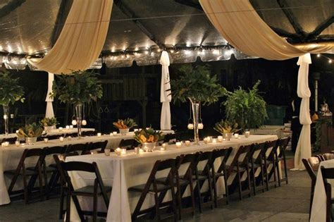 clear tent  black pole covers ivory ceiling drape