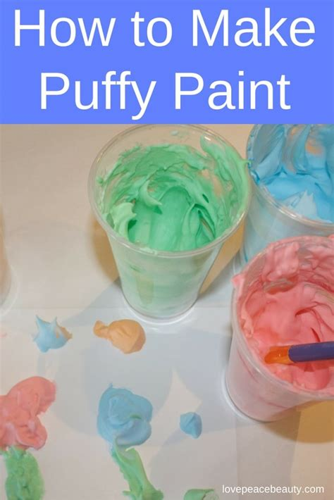 How To Make Shaving Cream Puffy Paint  Love Peace Beauty