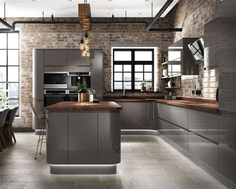 Gloss Kitchen Decor Ideas by Cg Grey Gloss Kitchen Industrial Design Concealed Lighting