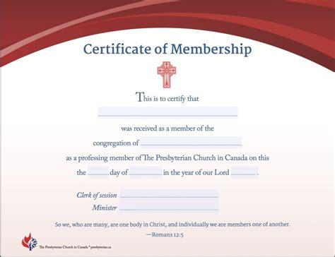 certificates  presbyterian church  canada