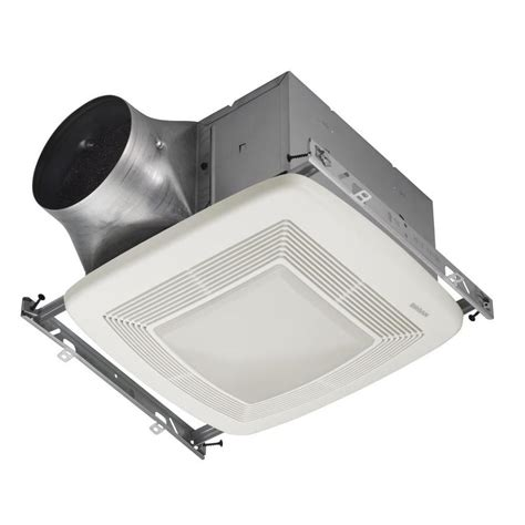 lowes broan bathroom fan shop broan 0 3 sone 110 cfm white bathroom fan energy star