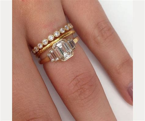 plain hair band stacked wedding ring styles that 39 ll leave you breathless