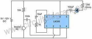 Sound Activated Led Using Lm386 Audio Amplifier Ic