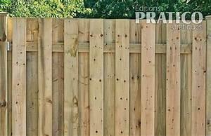 Faire Une Cloture En Bois : comment construire une cl ture 3 poser le recouvrement je jardine ~ Dallasstarsshop.com Idées de Décoration