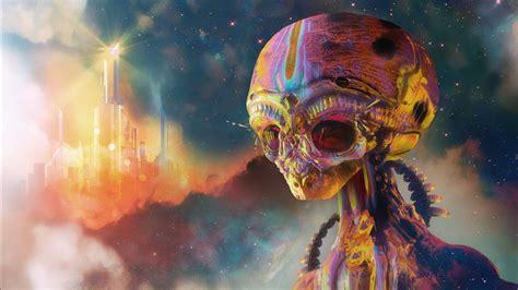 Trippy Mouse: Trippy Space Alien Wallpaper