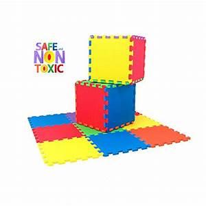 NON TOXIC 9 Piece Children Play Exercise Mat Foam