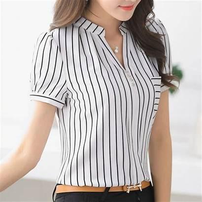 Wear Stripe Shirt Summer Formal Female Aliexpress