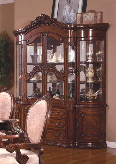 ornate kitchen cabinets ornate traditional china cabinet with antique brown finish 1281
