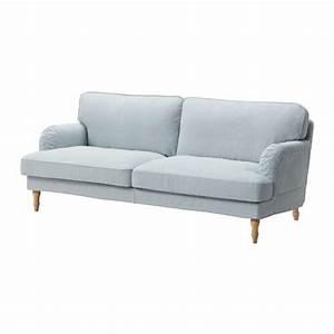 Ikea Sofa Weiß : stocksund 3er sofa remvallen blau wei hellbraun ikea ~ Watch28wear.com Haus und Dekorationen