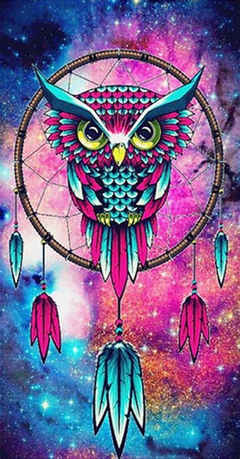 diy diamond painting owl dreamcatcher fondos de