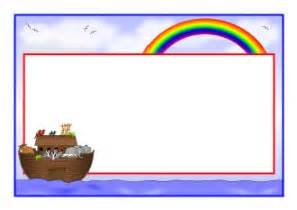 printable wedding invitation noah 39 s ark border clipart 27