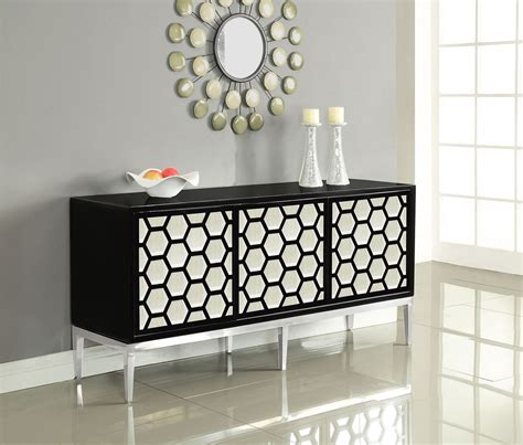 Black And Chrome Sideboard by Zoey Sideboard Buffet Black Chrome By Meridian