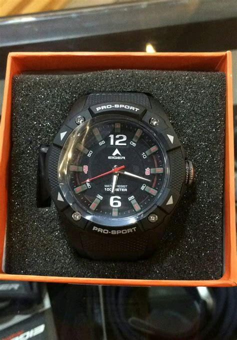 jual tali jam tangan r14w037 eiger iyw0101 hitam di lapak superior watch farhan