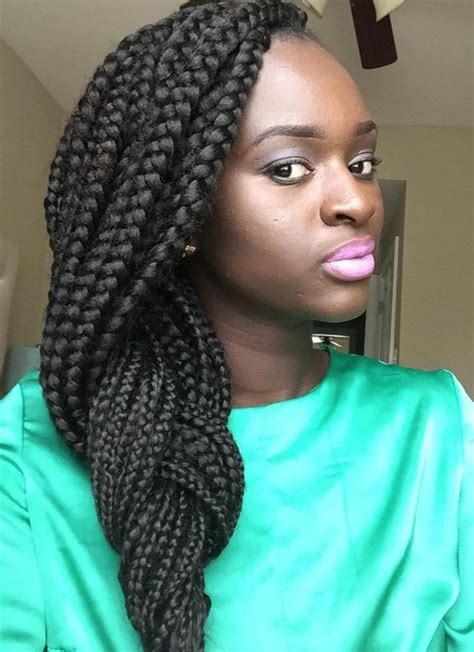 different styles of braided hair 42 chunky cool jumbo box braids styles in every length 7417