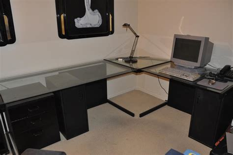 Best Kitchen Ideas - large l shaped glass desk all about house design beautiful l shaped glass desk