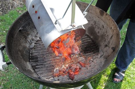 how to light charcoal how to light a charcoal grill with a chimney starter