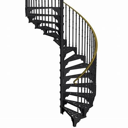 Spiral Staircase Clipart Stairs Transparent Outdoor Steel