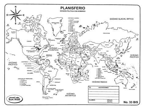 Planisferio con nombres en 2020 Planisferio con nombres