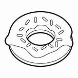 Donut Sprinkles Clipart Coloring Doughnut Template Sprinkled Cartoon Pencil Library Drawn sketch template